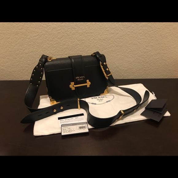 19f9b368ca71 Prada Bags | Cahier Large Shoulder Crossbody Bag | Poshmark